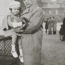 Isaak Babel with his daughter