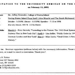 Announcements, 2001-02-13. ...