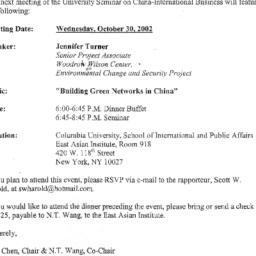 Announcements, 2002-10-02. ...