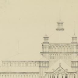 Front elevation of main sec...