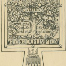 Bookplate of George Arthur ...