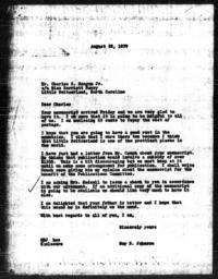 Letter from Guy B. Johnson to Charles S. Magnum Jr., August 28, 1939