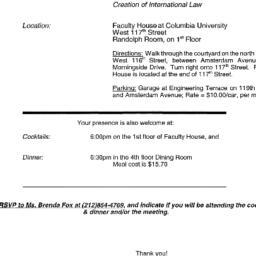 Announcements, 2001-05-15. ...