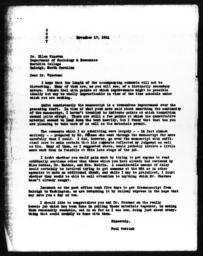 Letter from Paul Webbink to Ellen Winston, November 17, 1941