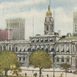 City Hall and Park New York