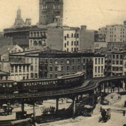 Elevated Railroad, New York.