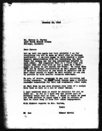 Letter from Gunnar Myrdal to Horace R. Cayton, January 15, 1940