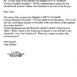 Correspondence, 2009-04-30....