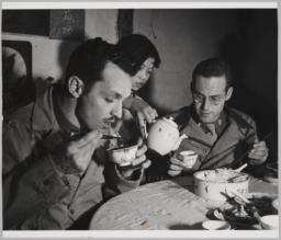Barney Being Served Tea