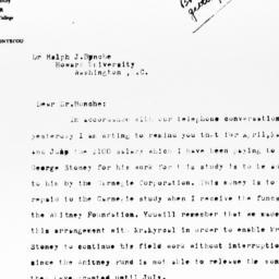 Letter from Eleanor Bonteco...
