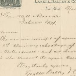 Lazell, Dalley & Co. Letter