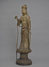 The     Bodhisattva Guanyin Standing on a Lotus Pedestal, Left 3/4