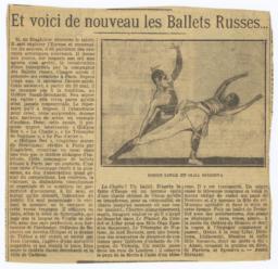 Et voici de nouveau les Ballets Russes