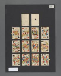 Standard deck of playing cards with French suits