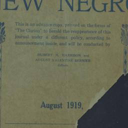 The     New Negro : Vol. 3....