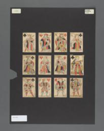 Standard deck of playing cards with French suits, Augerau pattern