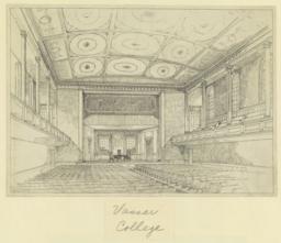 Vassar College. [Auditorium interior]