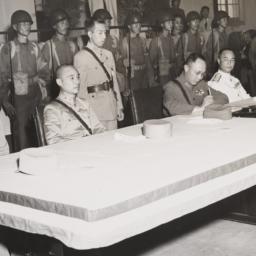 Ho Ying Chin Signing At Table