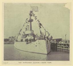 The Battleship Illinois--Front view