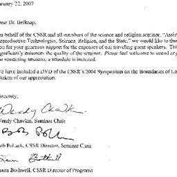 Correspondence, 2007-01-22....