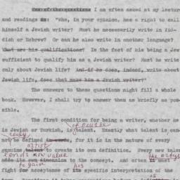 Jewish Writer and a Yiddish...