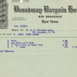 Broadway Bargain House. Bil...