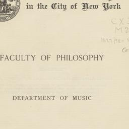 Faculty of Philosophy, Depa...