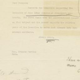 Letter with Attached Docume...