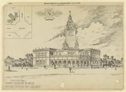 Competitive design, Missouri Building for the World's Columbian Exposition, Theo Clink, Archt