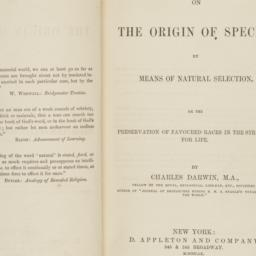 On the origin of species by...