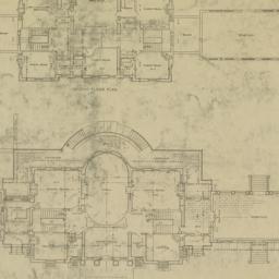 Plate 14. First floor plan....