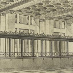 National Bank, [interior]