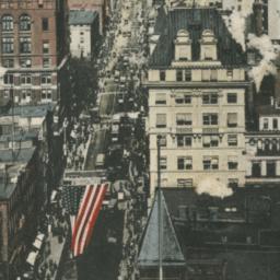 New York. Lower Broadway.