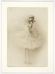 Anna Pavlova Posing as the Swan