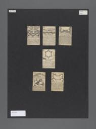 Jeu des Fortifications  [playing cards]