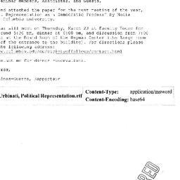 Announcements, 2006-03-23. ...
