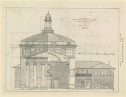 Plat 63. Front elevation. First Presbyterian Church, Chattanooga, Tenn. McKim, Mead & White, and Bearden & Foreman, Associated Architects