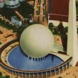 Aerial View of Trylon and P...