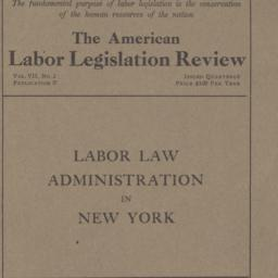 American Labor Legislation ...