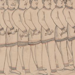 Line of Nine Men (recto); C...