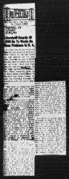 """Article on Gunnar Myrdal's Anisfield-Wolf Award for AN AMERICAN DILEMMA, """"Literature Awards of 1944 Go To Works On Race Problems In N.A.,"""" RUSTON DAILY LEADER, Louisiana, February 23, 1945"""