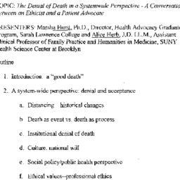Handouts, 2003-03-12. Death...