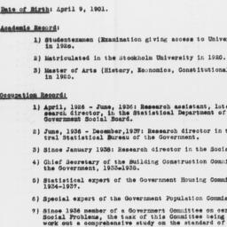 Resume of Richard Sterner e...