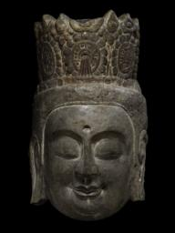 Head of a Bodhisattva, Front