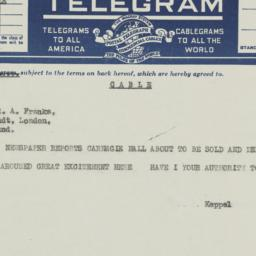 Telegram to Robert A. Franks