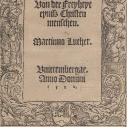 Von der Freyheyt eynisz Chr...