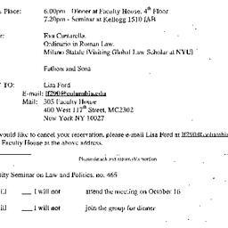 Announcements, 2002-10-16. ...