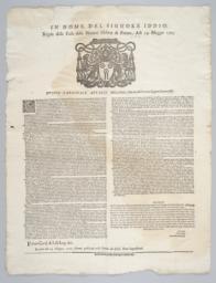 In nome del signore Iddio regole delle tasse della natione hebrea di Ferrara, adi 14. maggio 1702
