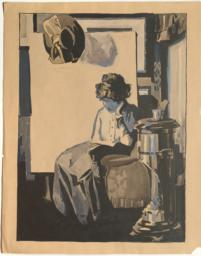 Seated Woman Reading a Book