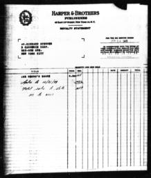 Royalty statement from Harper & Brothers to Richard Sterner for THE NEGRO'S SHARE, June 30, 1945